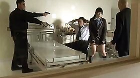 Japanese schoolgirl forced into hard foursome