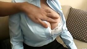 Huge natural tits and tight ass homemade
