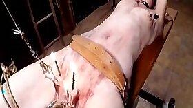 Horny slut punished with cumshot
