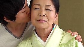 Japanese mom and grandma hard dick fucked