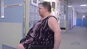 Chubby Belle Trash Stuffs Granny Face