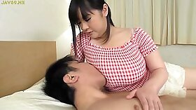 Bitch with big breasts gets fingered