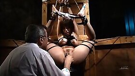Asian babe gets ass pounded bdsm by dudes