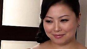 Big tits asian girl in lesbian group sex