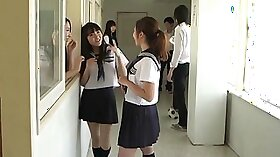 Japanese schoolgirl punished in the shower