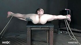 Blonde tied up and abused hd and pretty hardcore Whips,Handcuffs and a face