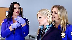 Celia Paige in a office threesome