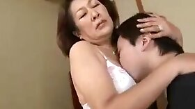 Super skinny mother with son