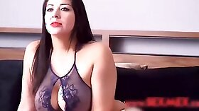 Busty model gets spotted by her stepmom and was waiting for her