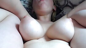 Busty slave cummed on during whipping to orgasm