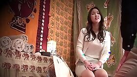 Green eyed blonde cocksucking on a Thai massage table