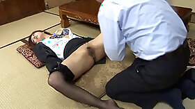 Cindy Caly in Black Gets fucked Drunk by Two Guys