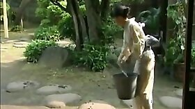 Japanese nannies having fun while scammed into slutty bathing