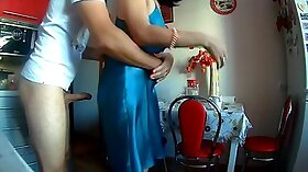 Anal Wife Fucked in Kitchen with Friend