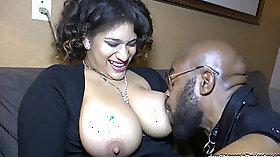 Chubby ebony MILF With Huge Tits