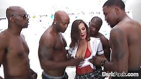 Brutal big dick gangbang with busty minx named Monta