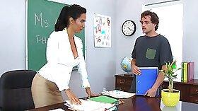Bitch Watches Porn Teacher Hottie Get Fucked In The Gym