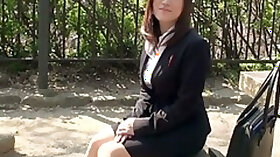 Sex starved Asian secretary Ritsuko Tachibana is masturbating her pussy in the office