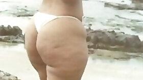 BBW Bikini Candid Booty voyeur Spying Butt