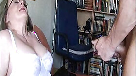 Amateur mature milf and screaming rough sex with busty stepson
