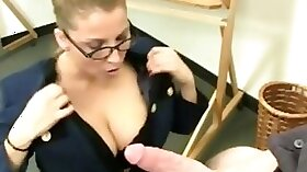 Amateur big-boob fucking in the mall with a MILF cum shot