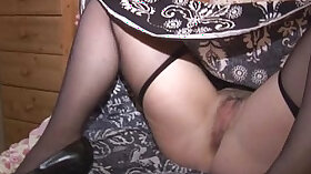 Big breasted mature chicks go wild on pussies of stripper