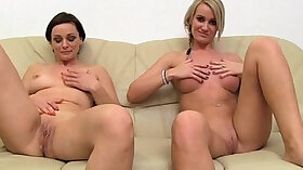 Chesty MILF gets fucked after pounding up holes in bed