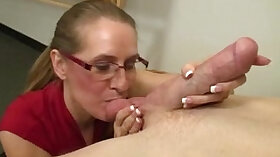 Appealing mature going crazymouth for teachers cock