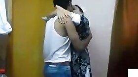 Amateur mature couple with indians kissing