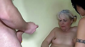 Guy fucks granny house wife with strapon