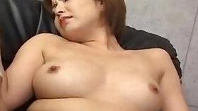 Captivating Japanese babe Natsuko Nishimoto love fingering her spandexed pussy