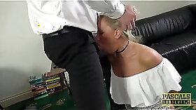 Amazing blonde milf sucks the sloshash chicks dick in the car